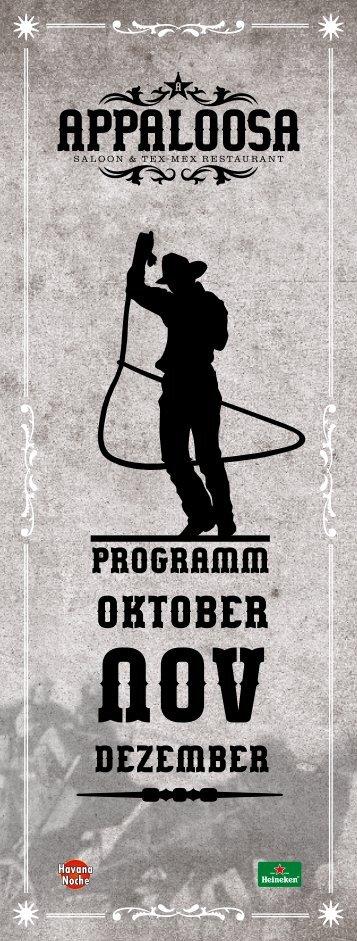 Oktober - Appaloosa Saloon Spiez