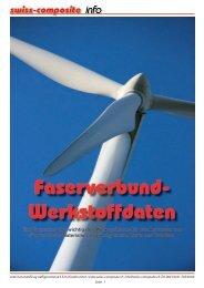 Faserverbund- Werkstoffdaten - Suter Swiss-Composite Group