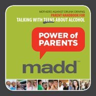 TALKING WITH TEENS ABOUT ALCOHOL - MADD