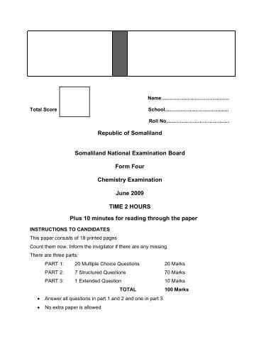 SL-F4-Chemistry-2009-exam-pdf - Webs