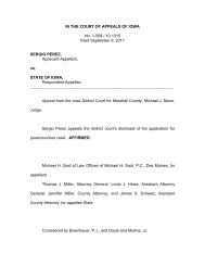 IN THE COURT OF APPEALS OF IOWA No. 1-568 / 10-1315 Filed ...