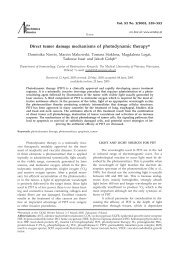 Direct tumor damage mechanisms of photodynamic therapy