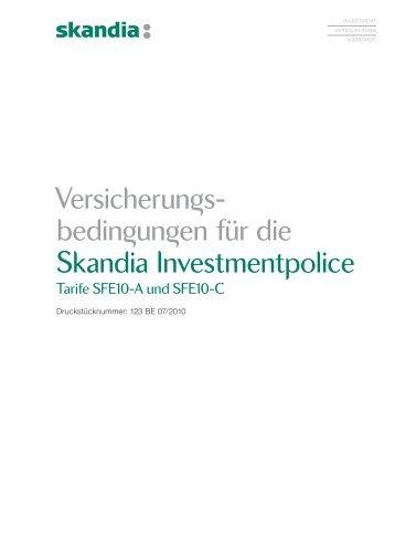 Versicherungsbedingungen Skandia Investmentpolice - LARANSA AG