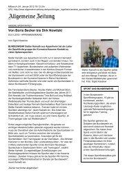 Allgemeine Zeitung - Druckansicht: Von Boris Becker bis Dirk Nowitzki