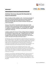 AmCham Germany Awards Dirk Nowitzki for Social Involvement