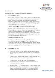 Zielsetzung des Preises, Begründung der Jury - AmCham Germany