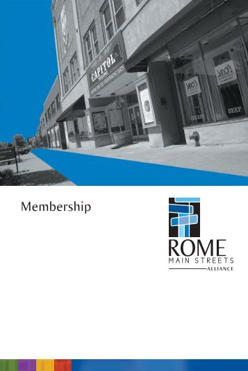Download the full membership brochure - Rome Main Streets