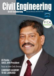 Ali Naidu – SAICE 2010 President CANDIDATE ACADEMY TO BE ...