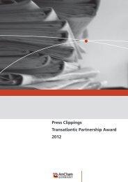 Press Clippings Transatlantic Partnership Award 2012 - AmCham ...