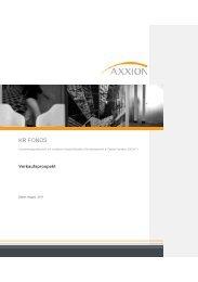 Verkaufsprospekt K&R Fonds Deutsche Aktien Spezial 22.08.2011