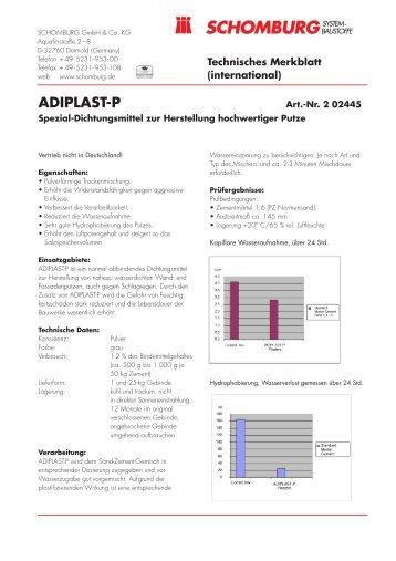 TM ADIPLAST-P.qxd - Schomburg
