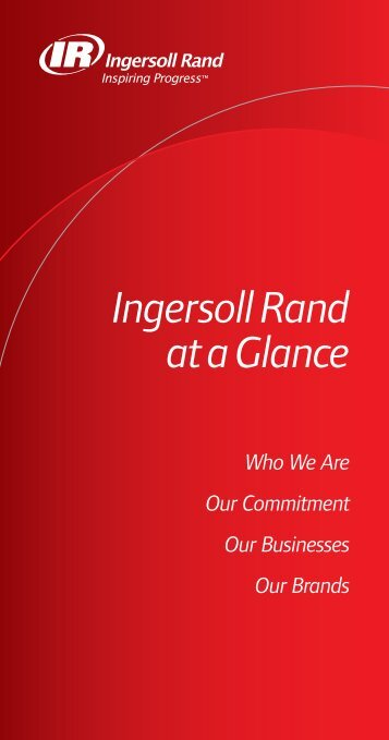 IngersollRand ataGlance - Ingersoll Rand Security Technologies