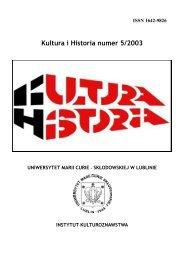 Kultura i Historia numer 5/2003 - Kultura i Historia - Lublin