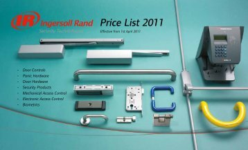 Retail Price List 2011 - Ingersoll Rand Security Technologies