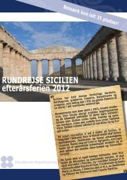 RUNDREJSE SICILIEN efterårsferien 2012