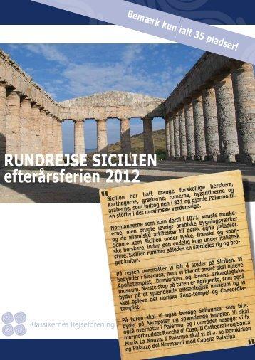 """RUNDREJSE SICILIEN efterårsferien 2012 """" """" """""""