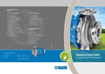 Energieeffiziente Pumpe- Wellendichtungslos mit ... - Klaus Union