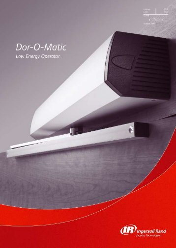 Dor-O-Matic - Ingersoll Rand Security Technologies