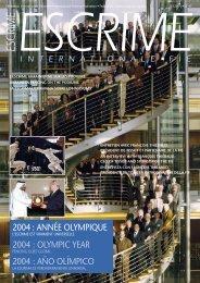 2004 : année olympique 2004 : olympic year 2004 : año olímpico - FIE