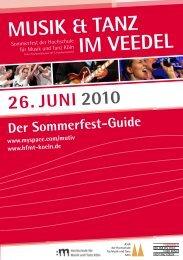 d ie k ünstler - AStA der Hochschule für Musik und Tanz Köln