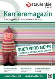 Ausgabe 4/2011 - Staufenbiel Karrieremagazin