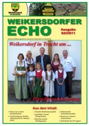 Ausgabe 03/2011 - in der Gemeinde Weikersdorf