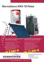 Normatherm KKH 15 Paket - Normatherm Stahlheizkesselbau GmbH