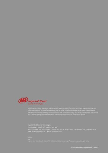Normbau Design Systems - Ingersoll Rand Security Technologies