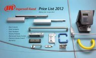 Price List 2012 - Ingersoll Rand Security Technologies