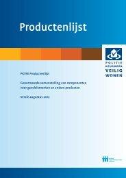 Productenlijst (aug 2012) - Politiekeurmerk Veilig Wonen