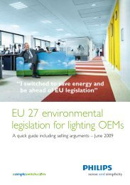 EU27 legislation - Philips Lighting