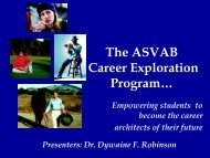 The ASVAB Career Exploration - Texas Career Education Conference
