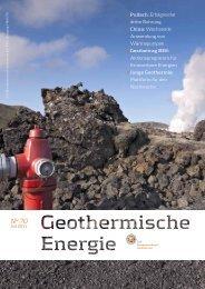 """Zeitschrift """"Geothermische Energie"""" - Geothermie"""