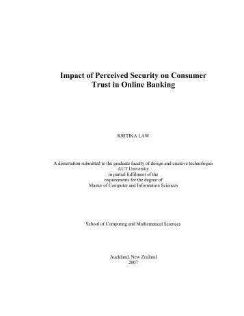 Impact of Perceived Security on Consumer Trust in Online Banking