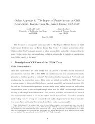 """Online Appendix to """"The Impact of Family Income on Child ..."""