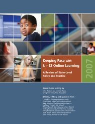 Keeping Pace with k – 12 Online Learning - iNACOL