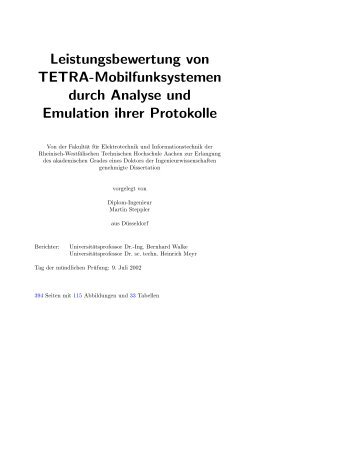 Thesis - RWTH Aachen University