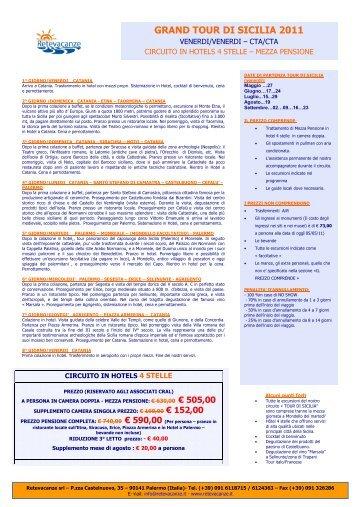 GRAND TOUR DI SICILIA 2011 - Retevacanze