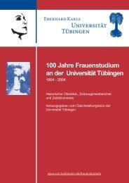100 Jahre Frauenstudium an der Universität Tübingen