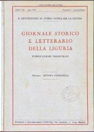 giornale storico e letterario della liguria - Società Ligure di Storia ...