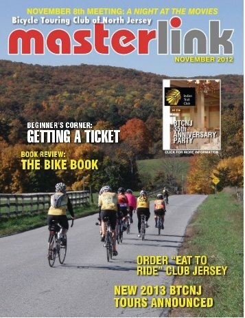 club meeting news - the Bicycle Touring Club of North Jersey