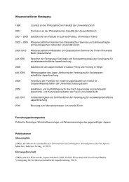 David Chiavacci - Fachbereich Geschichts - Freie Universität Berlin