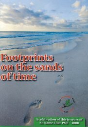 Footprints on the sands of time, a celebration - No Name!