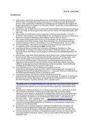 Prof. Dr. Josef Falke Publikationen • Ulrike Liebert, Josef Falke ...