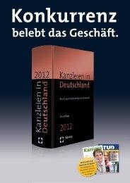 belebt das Geschäft. - Kanzleien in Deutschland
