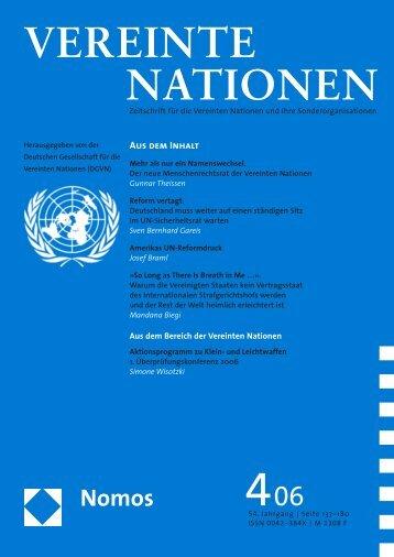 Reform vertagt - Deutsche Gesellschaft für die Vereinten Nationen eV