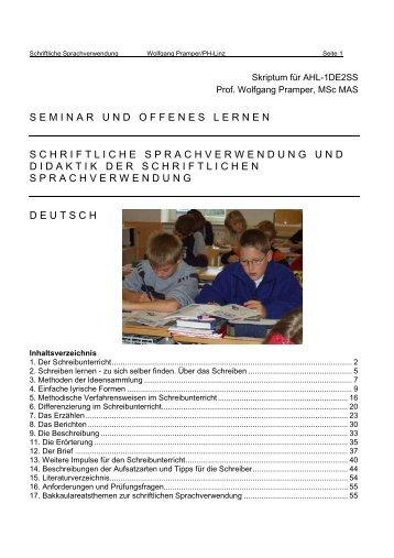 Sprachverwendung magazine for Wolfgang pramper