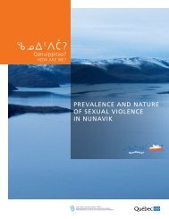 Prevalence and nature of sexual violence in Nunavik