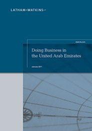 Doing Business in the United Arab Emirates - Latham & Watkins