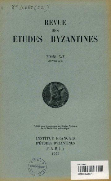 Etudes de titulature byzantine
